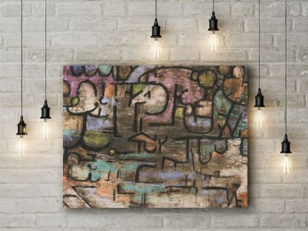 Paul Klee: After The Flood. Fine Art Canvas.